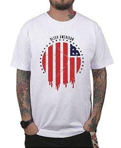 Camiseta Bleed American Flag Branca