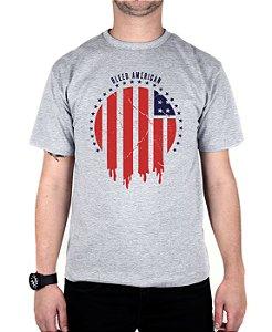 Camiseta Bleed American Flag Cinza Mescla