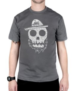 Camiseta Bleed American Beard Skull Chumbo