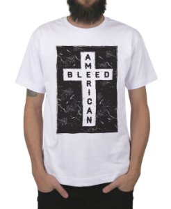 Camiseta Bleed American Cross Branca