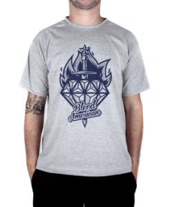 Camiseta Bleed American Diamond Cinza Mescla