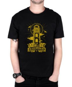 Camiseta Bleed American Lighthouse Preta