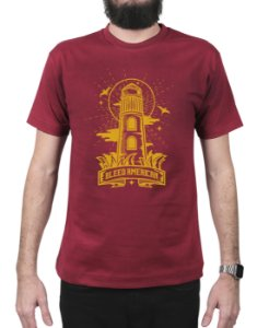 Camiseta Bleed American Lighthouse Vinho