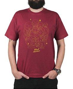Camiseta Bleed American Calaveritas Vinho