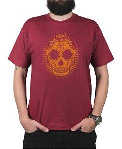 Camiseta Bleed American Sugar Skull Vinho