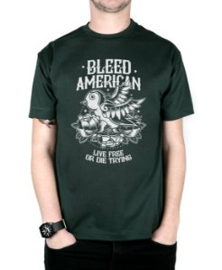 Camiseta Bleed American Swallow Musgo