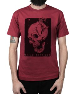 Camiseta Bleed American Life and Death Vinho