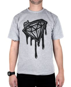 Camiseta Bleed American Shine Diamond Cinza Mescla