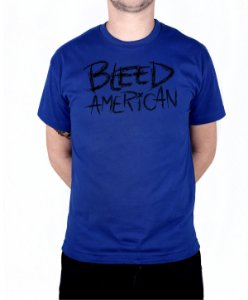 Camiseta Bleed American Logo Royal