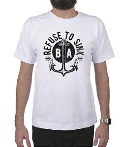 Camiseta Bleed American Refused To Sink Branca