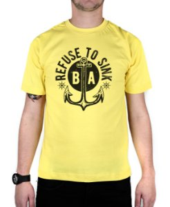 Camiseta Bleed American Refused To Sink Amarela