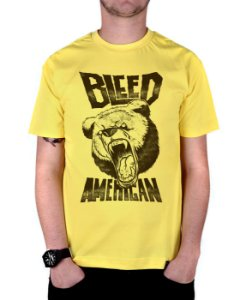 Camiseta Bleed American Killer Bear Amarela