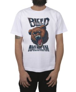 Camiseta Bleed American Killer Bear Branca