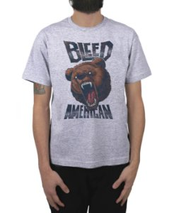 Camiseta Bleed American Killer Bear Cinza Mescla