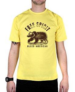 Camiseta Bleed American Free Spirit Amarela