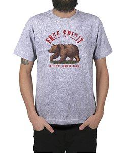 Camiseta Bleed American Free Spirit Cinza Mescla