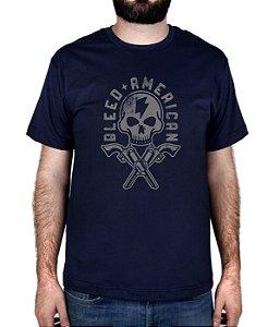 Camiseta Bleed American Skull Walker Marinho