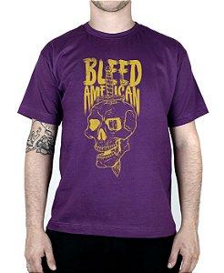Camiseta Bleed American Bope Roxa