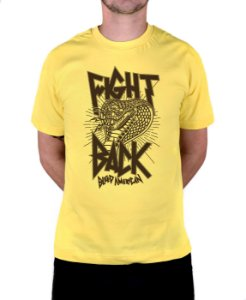Camiseta Bleed American Fight Back Amarela