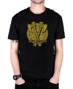 Camiseta Bleed American Suiones Shield Preta