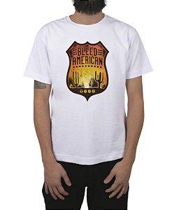 Camiseta Bleed American Route 66 Branca
