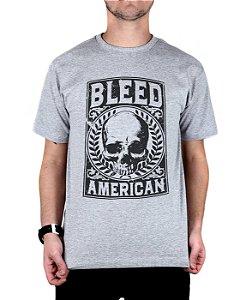 Camiseta Bleed American Caeser Cinza Mescla