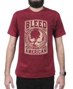 Camiseta Bleed American Caeser Vinho
