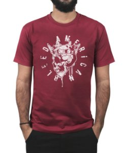 Camiseta Bleed American Kingstone Vinho