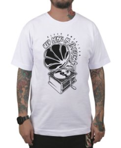 Camiseta Bleed American Turntable Branca