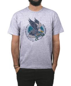 Camiseta Bleed American Eagle  Cinza Mescla