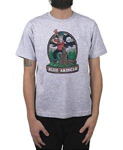 Camiseta Bleed American Fontana Cinza Mescla