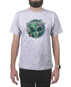 Camiseta Bleed American E.T. Cinza Mescla