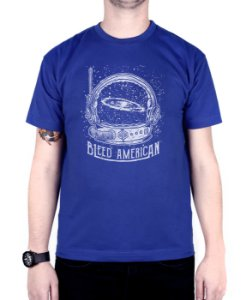 Camiseta Bleed American Galaxy Royal