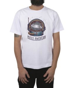 Camiseta Bleed American Galaxy Branca