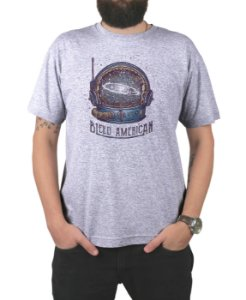 Camiseta Bleed American Galaxy Cinza Mescla