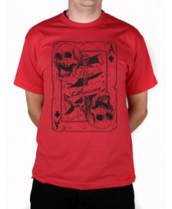 Camiseta Bleed American Death Card Vermelha