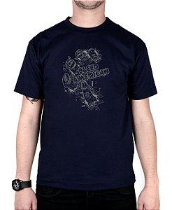 Camiseta Bleed American Zombie Marinho