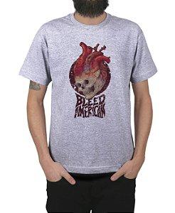 Camiseta Bleed American Medusa Cinza Mescla