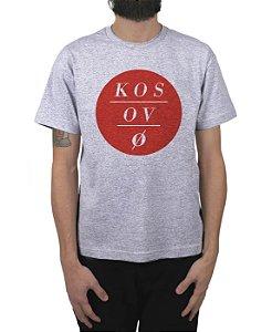 Camiseta Kosovo Circles Cinza Mescla