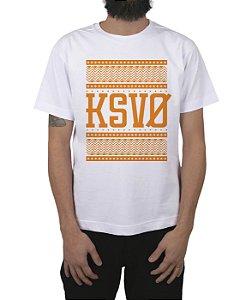 Camiseta Kosovo Triangles Branca