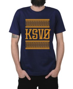 Camiseta Kosovo Triangles Marinho