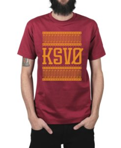 Camiseta Kosovo Triangles Vinho