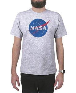Camiseta Nasa Logo Cinza Mescla