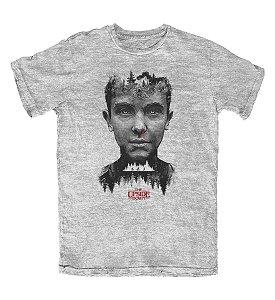 Camiseta Stranger Things Eleven Cinza Mescla