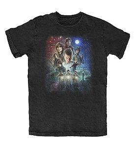 Camiseta Stranger Things Preta