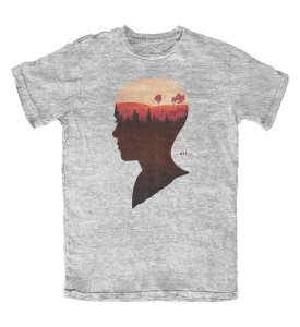 Camiseta Stranger Things Eleven 011 Cinza Mescla