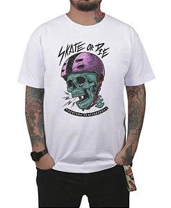 Camiseta Ventura Skate Or Die Branca
