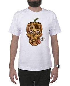 Camiseta Ventura Pumpkin Skull Branca