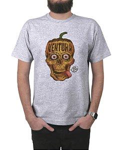 Camiseta Ventura Pumpkin Skull Cinza Mescla