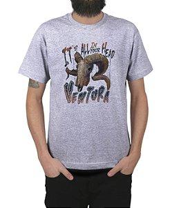 Camiseta Ventura Dead Goat Cinza Mescla